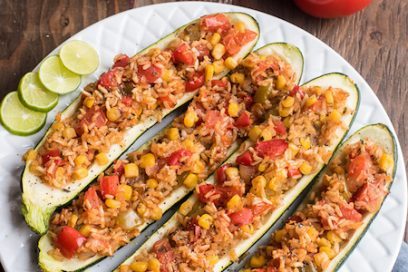 South of The Border Stuffed Zucchini Recipe