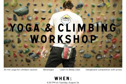 Yoga & Climbing Workshop at Vuori
