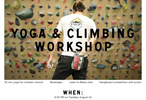 Yoga + Climbing Workshop